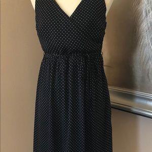 Beautiful Black And White Summer Polka Dot Dress